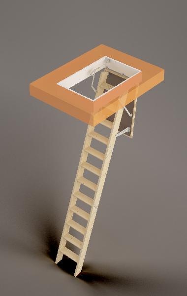Escalier escamotable ISOKIT isolé 120x60x280