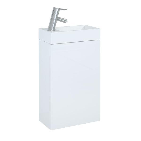Lave-mains YOUNG 1 porte 40x22,5x68cm Blanc