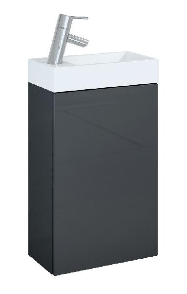 Lave-mains YOUNG 1 porte 40x22,5x68cm Anthracite