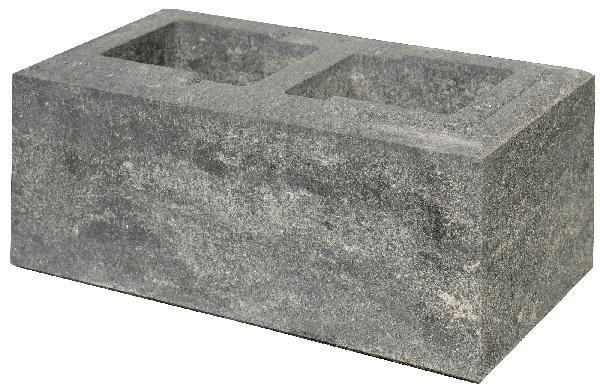 Demi-muret VARIO-LINE cendre 52x20 H.16,7