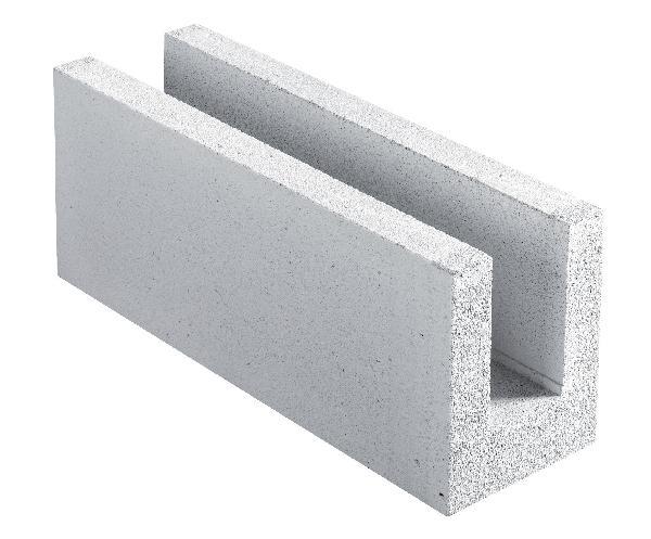 Bloc béton cellulaire COMPACT 20 TU chaînage horizontal 20x25x62,5cm
