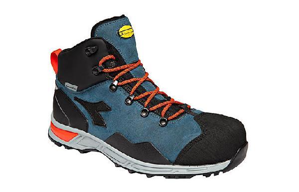 Chaussures de sécurité hautes D-TRAIL LEATHER bleu S3 SRA HRO WR T.43