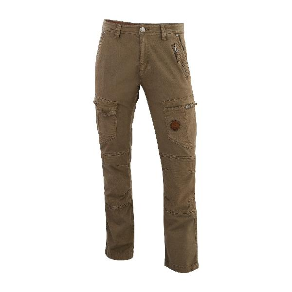 Pantalon multipoches taupe T.48