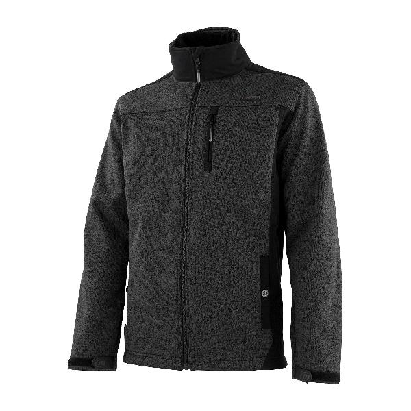 Gilet softshell anthracite/chiné T.M