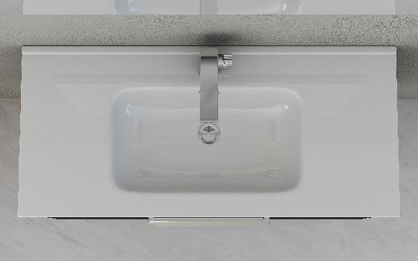 Vasque VENUS 46x101cm céramique blanc