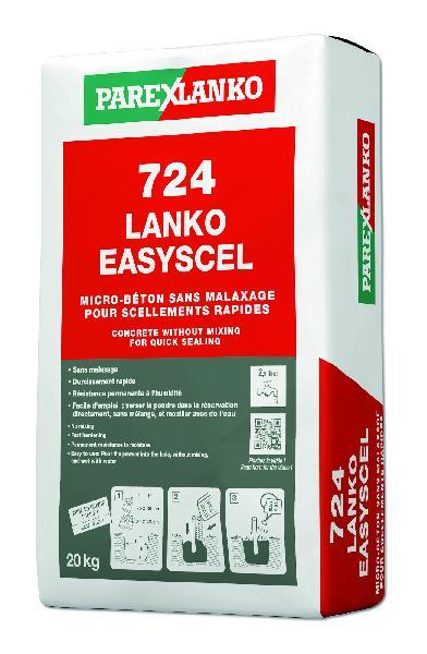 Microbéton scellement 724 LANKO EASYSCEL sans malaxage sac 20kg