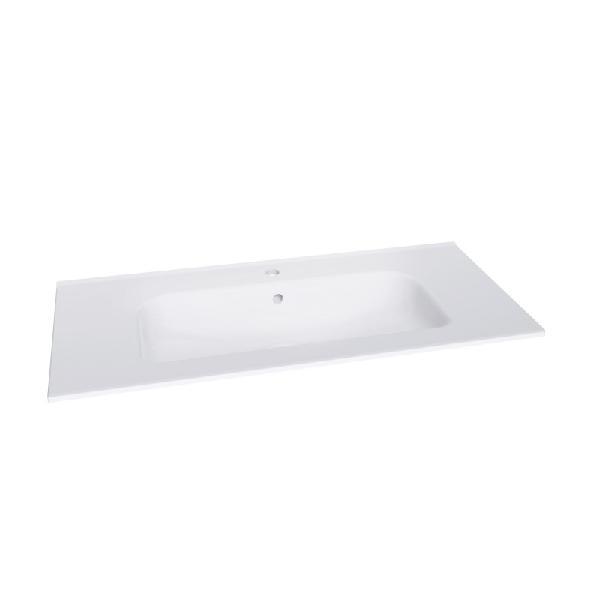Plan vasque SLIM 101x4,6cm céramique blanc