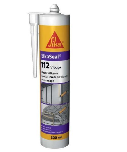 Mastic élastique SIKASEAL 112 silicone transparent 300ml