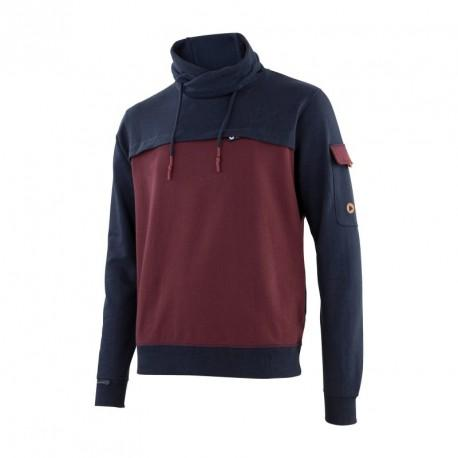 Sweat SNOOD marine/bordeaux T.L