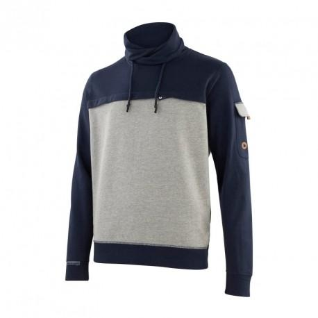 Sweat SNOOD chiné/marine T.L
