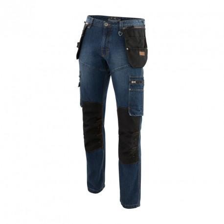 Jean genouillères poches HOLSTER bleu noir T.44