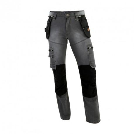 Jean genouillères poches HOLSTER gris T.46