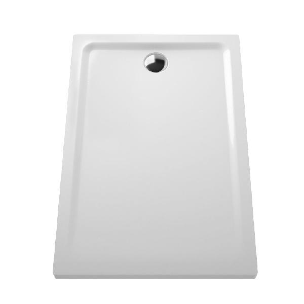 Receveur extra-plat ARKITEKT Blanc céramique 120x80cm Ep.55mm NF