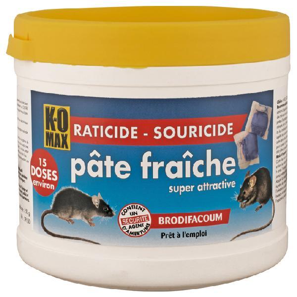 Raticide souricide intérieur/extérieur KOMAX pâte 150g