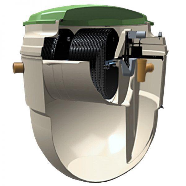 Microstation d'épuration BIODISC 1100mm Ø160 18EH