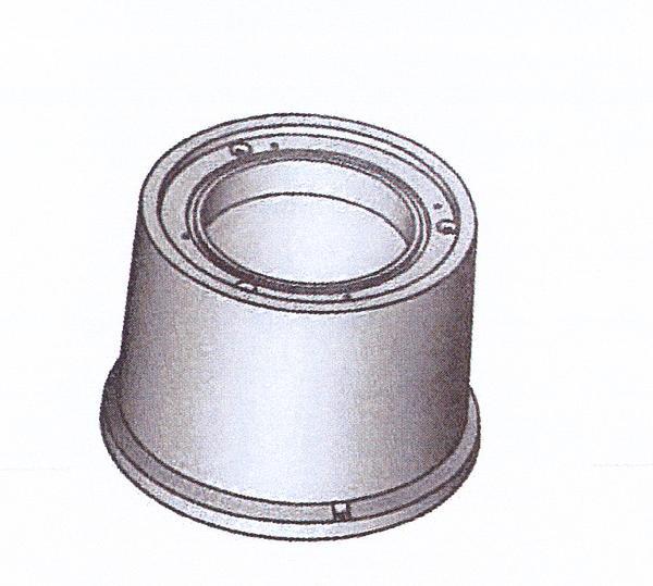 Tête béton pour regard verrouillé Ø1000 H.45cm avec échelons