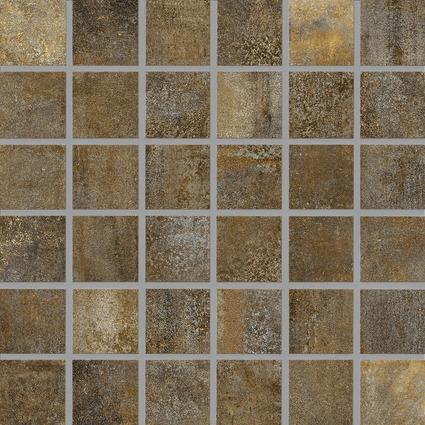 Carrelagemosaïque RONDA mix rouille antidérapant 4,7x4,7cm Ep.6,5mm