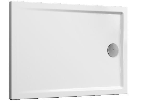 Receveur CASCADE blanc antidérapant PMR céramique 120x80cm Ep40mm NF