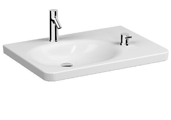 Lavabo CONFORMA avec robinet PMR blanc NF x79,5cm x9,5cm x5,7cm