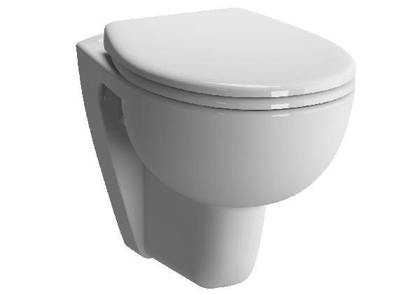 WC PMR suspendu CONFORMA blanc céramique 35,5x5,4cm NF