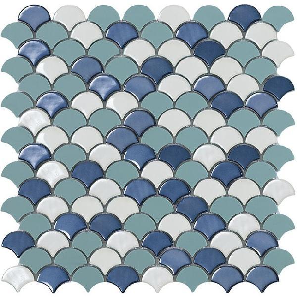 Emaux de verre SOUL décor blue mix 3,6x2,9 Ep.4,5mm