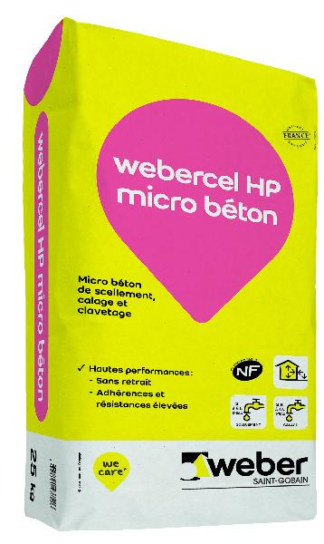 Micro béton scellement-calage WEBERCEL HP MICRO BETON sac 25kg