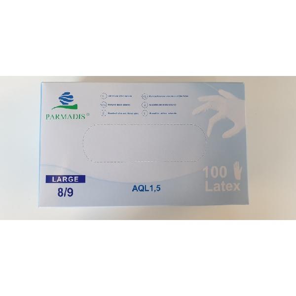 Gant latex naturel poudrés T.8/9 boite 100