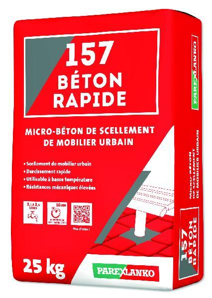 Microbeton de scellement-calage 157 BETON RAPIDE sac 25Kg