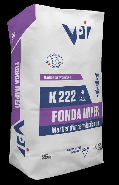 Mortier mince imperméabilisation K222 FONDA IMPER sac 25kg