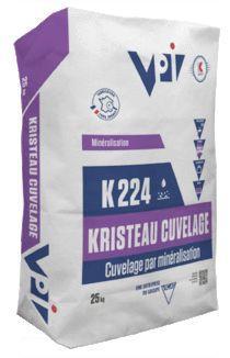 Mortier cuvelage k224 KRISTEAU CUVELAGE blanc sac 25kg