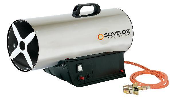 Chauffage air pulsé portable gaz propane à allumage manuel 18 à 33kW