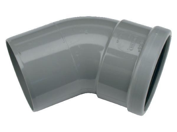 Coude PVC assainissement CR4 Ø400 mâle-femelle 45°