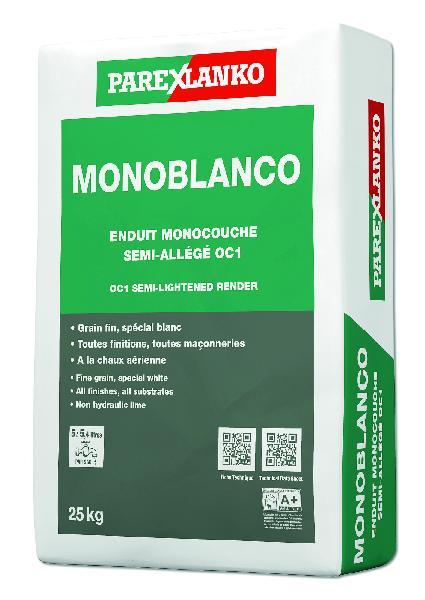 Enduit monocouche MONOBLANCO blanc sac 25Kg