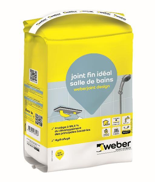 Mortier joint WEBER JOINT DESIGN noir sac 5kg