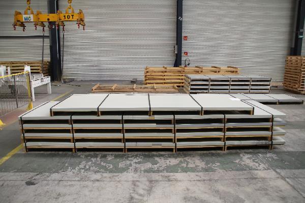 TOLE PLANE LAQUE 50/100 200X100 7016 GRIS ANTHRACITE