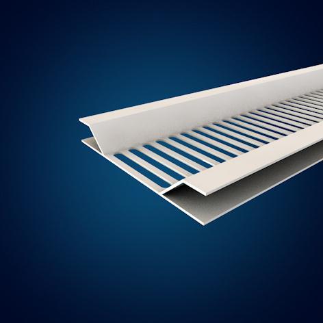 Profil de ventilation blanc SV404 40mm 4,00m