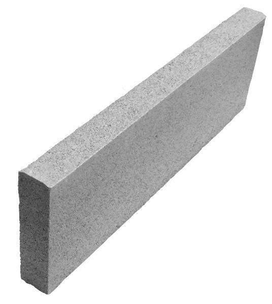 Bordurette ECO Ep.4x16x50cm gris