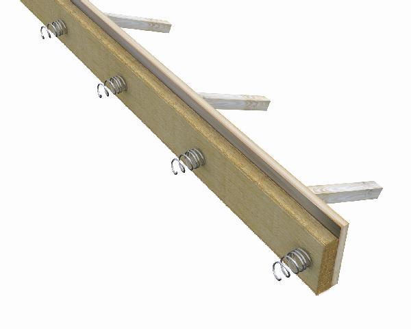 Panneau de coffrage pour joint coupe feu JOCOF 1200x200x60mm