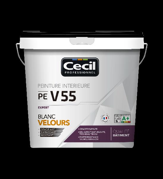 Peinture multisupport V55 EXPERT velours acrylique blanc 5L