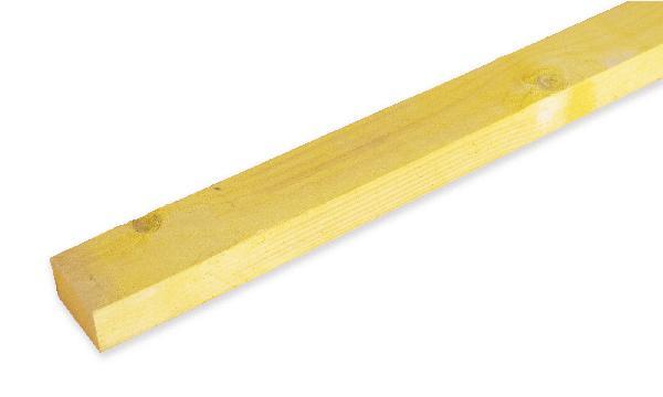 Liteau sapin/épicéa traité classe 2 27x60mm 4,00m