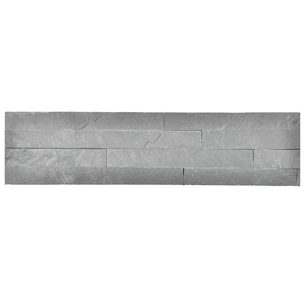 Parement ardoise sur résine SLIM 11 10x40cm gris foncé