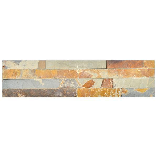 Parement ardoise sur résine SLIM 12 10x40cm multicolor