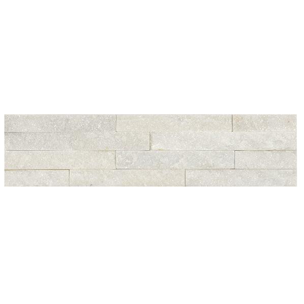 Parement quartzite sur résine SLIM 15 10x40cm blanc