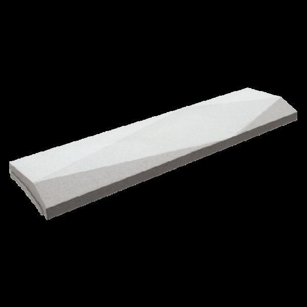 Couvertine TRIGONE pointe désaxée 99x30cm Ep.7cm blanc cassé