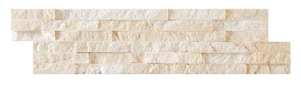 Parement marbre sur résine LAJA 15x60cm creme