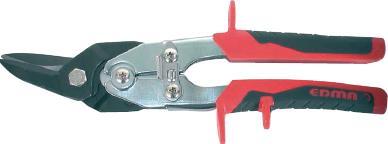 Cisaille à tôle chantourneuse pour gaucher APPOLO bi-matière 25,5cm