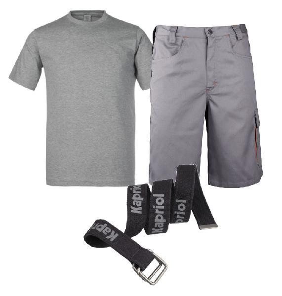 Bermuda + tee-shirt + ceinture T.XL
