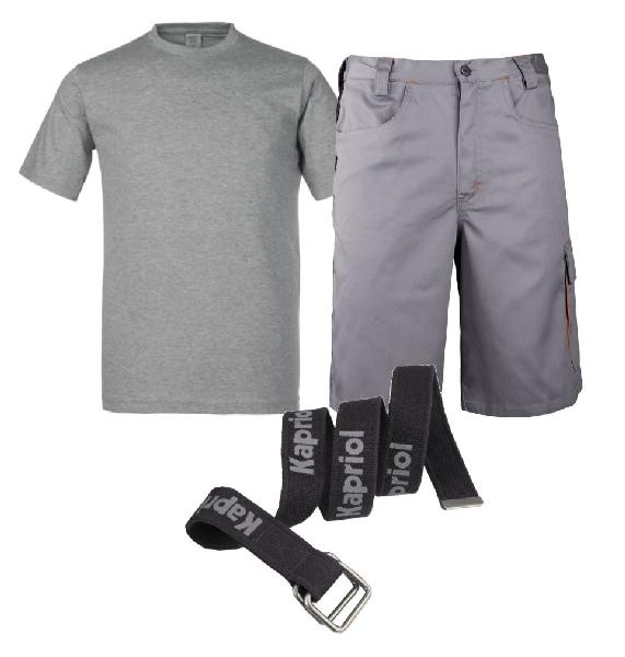 Bermuda + tee-shirt + ceinture T.XXL