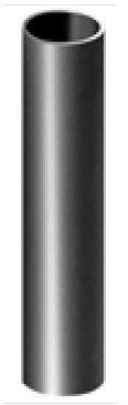 Tube acier pour réservation de garde corps Ø27/30 mm 30cm