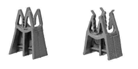 Cale armature horizontale PVC DRANFIX enrobage:50mm sachet 1000
